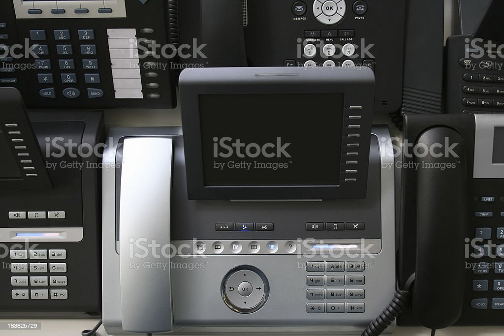 Modern digital IP phones royalty-free stock photo