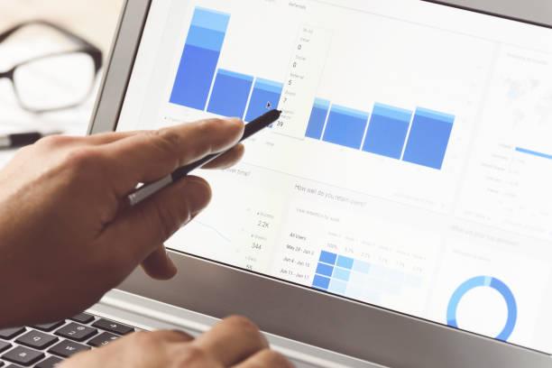 modernes digitales marketing - geschäftsstrategie stock-fotos und bilder