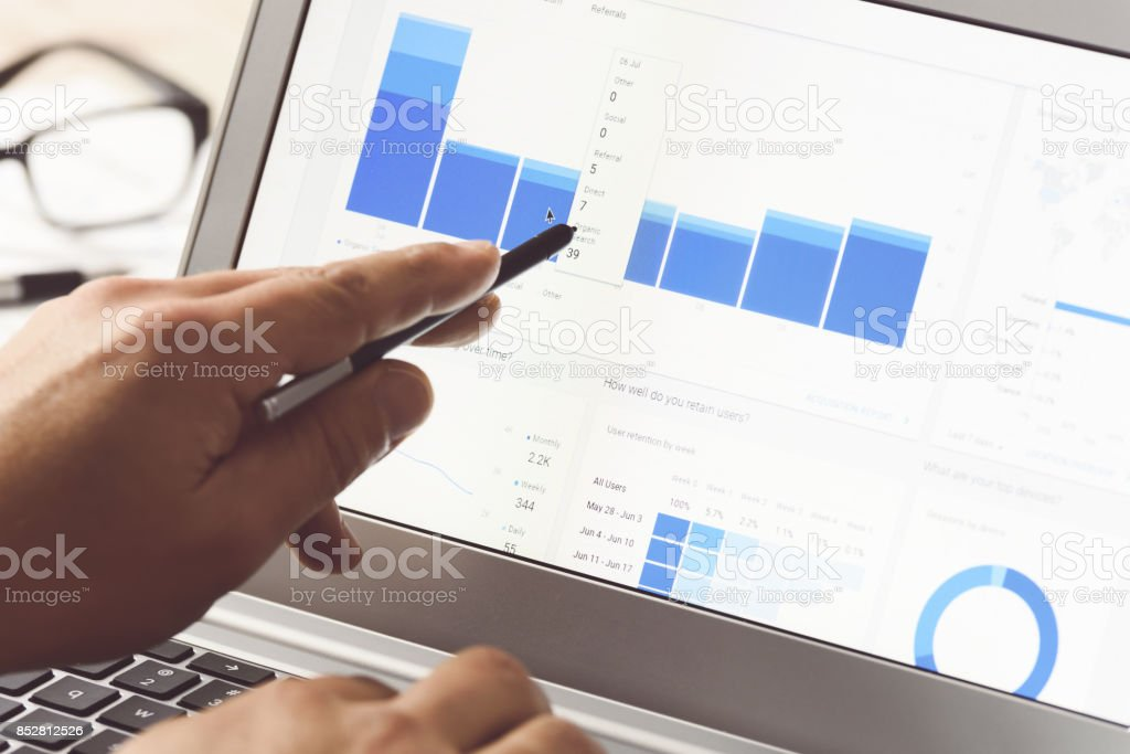 Modern digital marketing stock photo