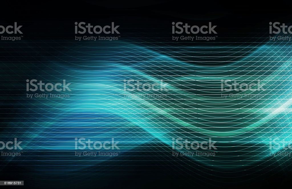 Modern Digital Soundwave Futuristic Abstract stock photo