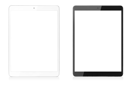 Modern Digital Tablets Isolated with Clipping Path for Screens