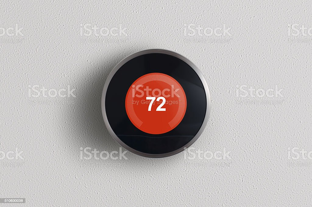 Modern Digital Thermostat stock photo
