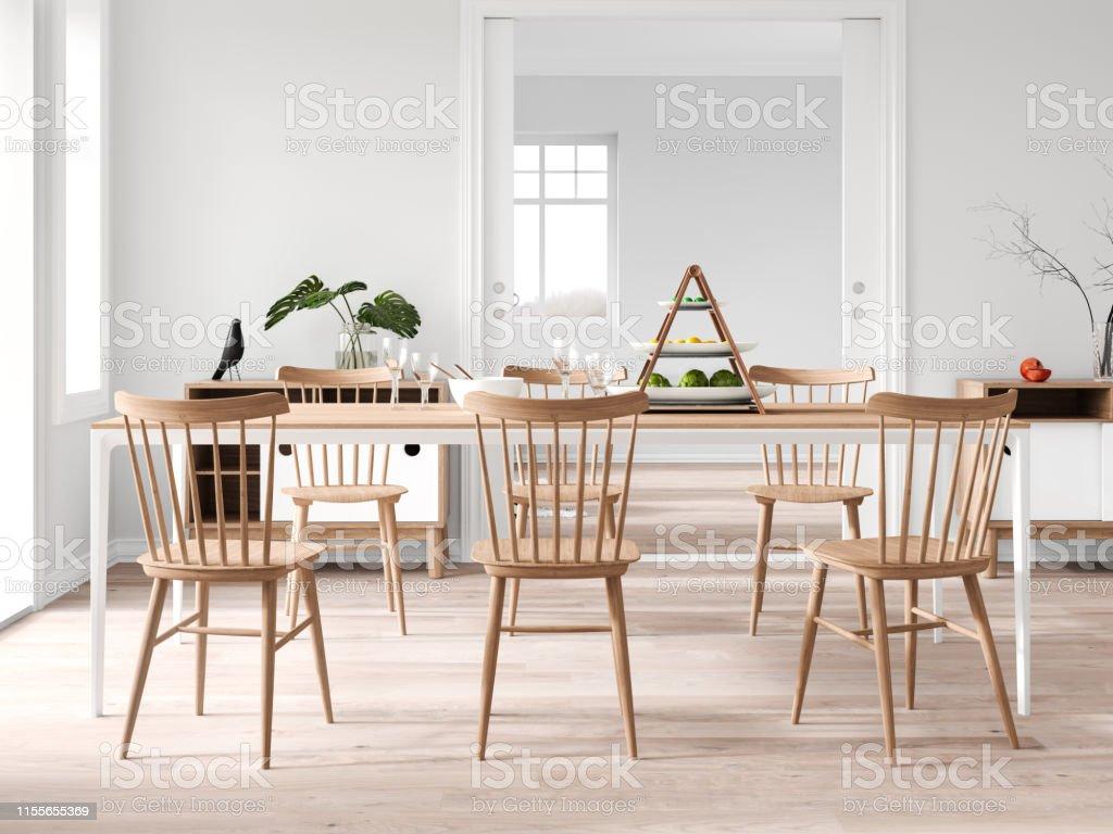 Salón Comedor Moderno Foto de stock y más banco de imágenes ...