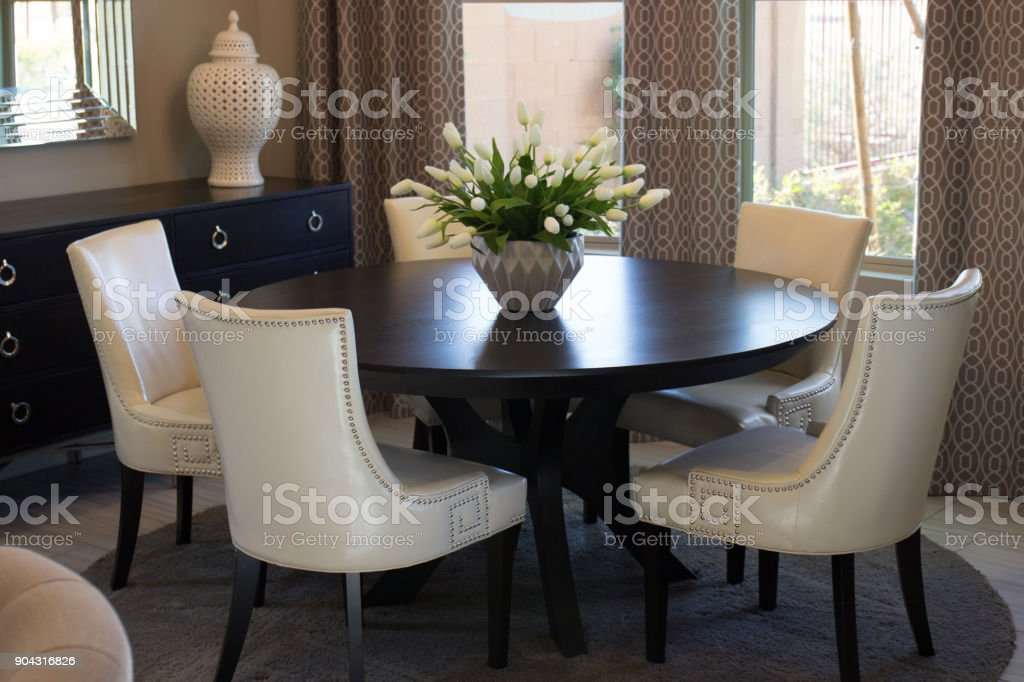 Modern Dining Room Table Chairs Stock Photo Download Image Now Istock