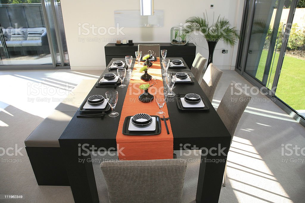 Modern Dining Table royalty-free stock photo