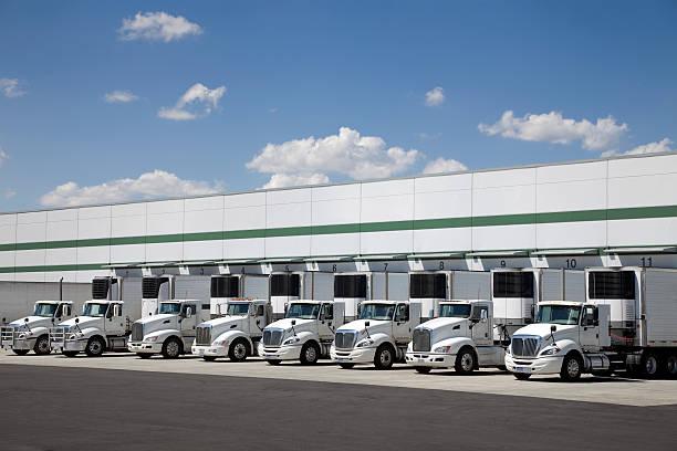 Modern distribution center stock photo
