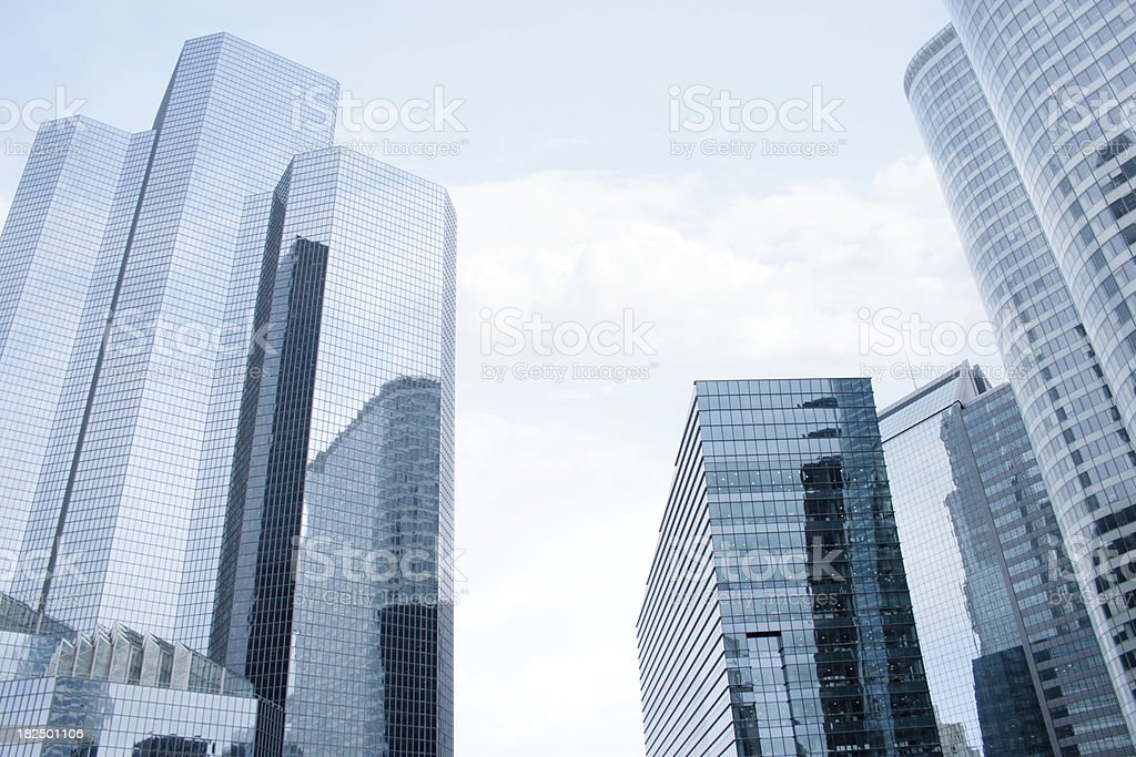 Modern district on a sunny day royalty-free stock photo