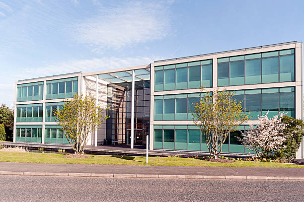 Modern disused office building stock photo