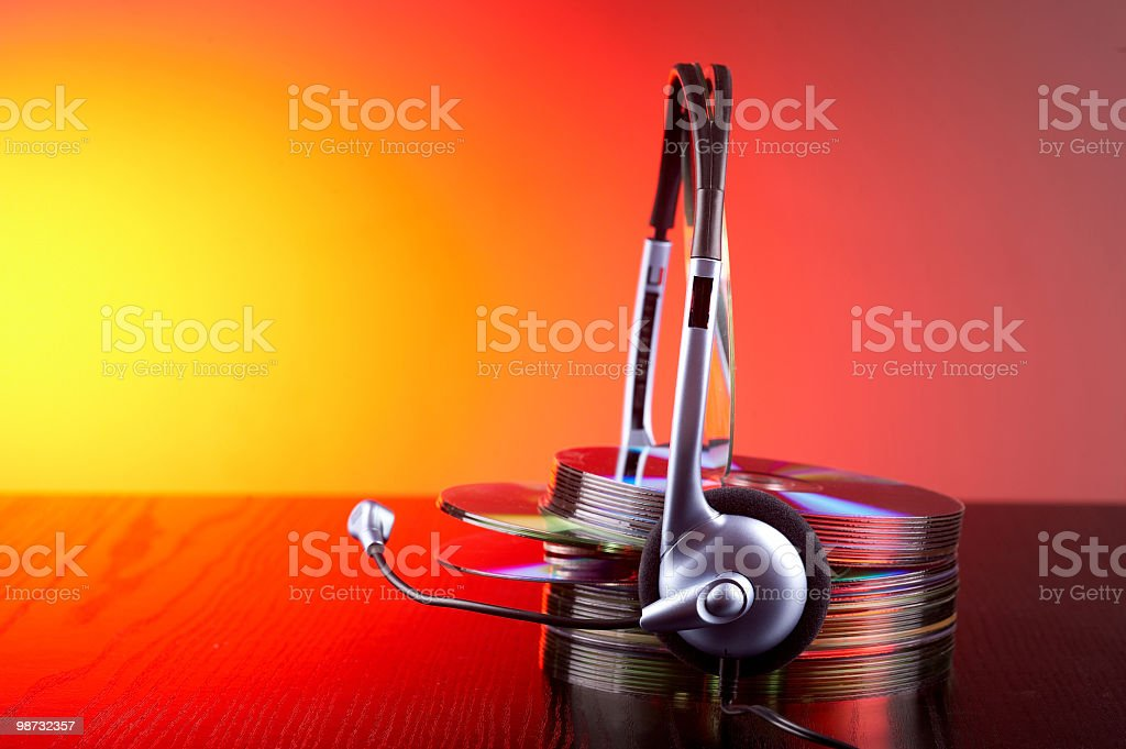Modern DJ royalty-free stock photo