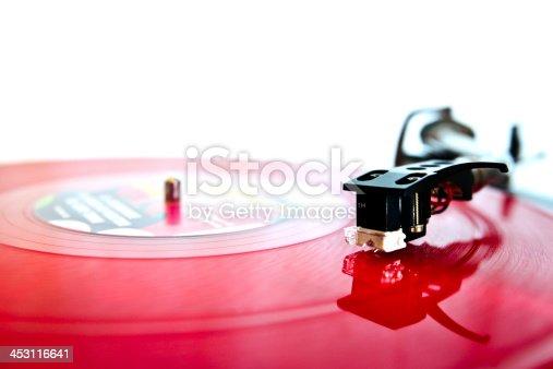 istock Modern DJ turntable 453116641