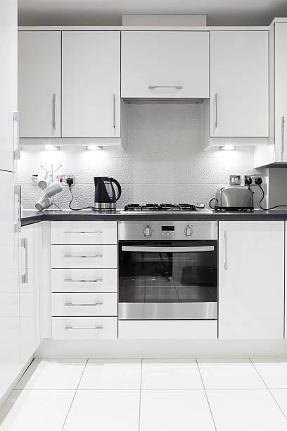 Modern domestic kitchen. stock photo