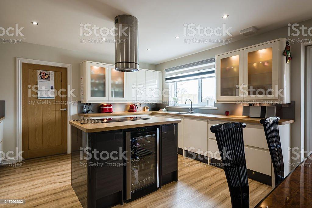Modern Domestic Kitchen stock photo
