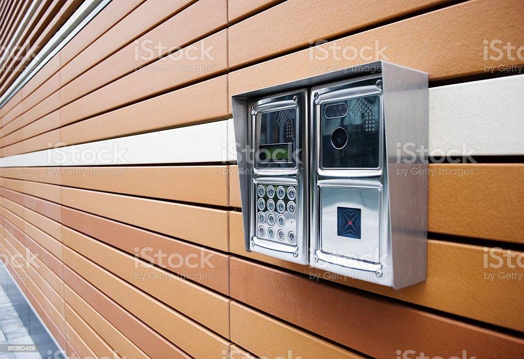 Modern Door Intercom stock photo