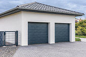 Modern double garage for cars