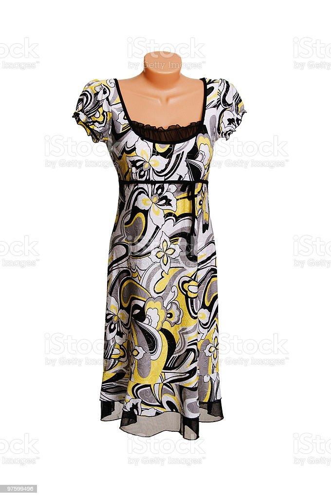 Modern dress on a white. royaltyfri bildbanksbilder