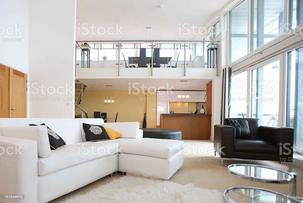 Modern Duplex Apartment stock photo