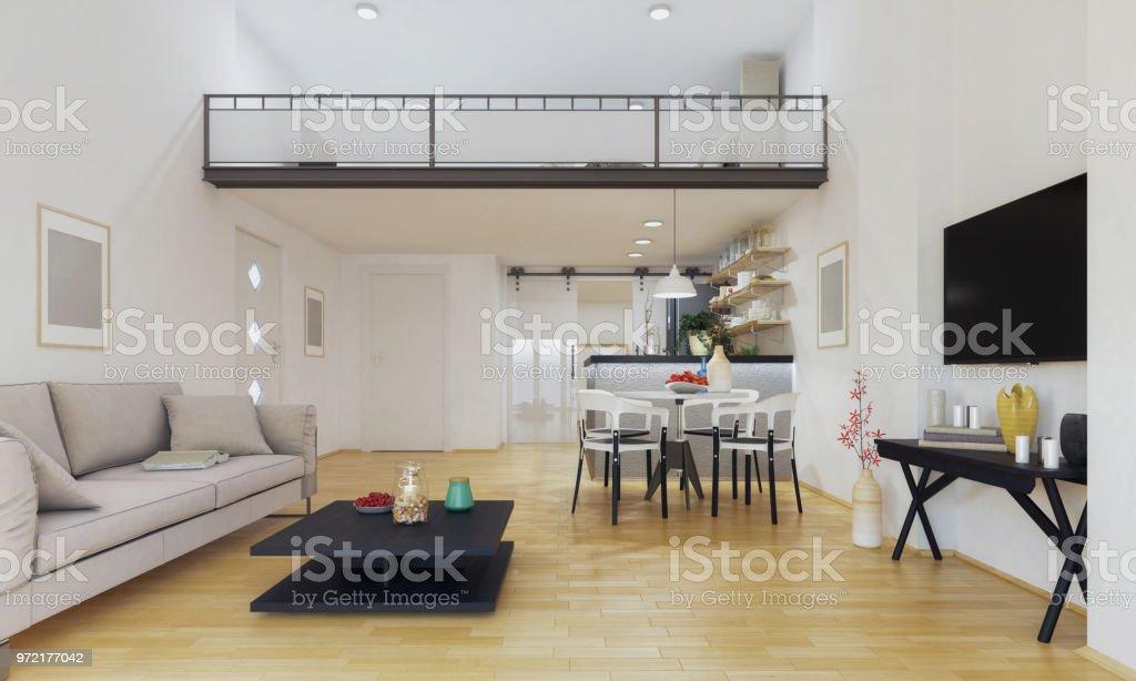Moderne maisonettewohnung stockfoto und mehr bilder von bartresen