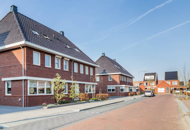 modern dutch housesn - netherlands stock pictures, royalty-free photos & images