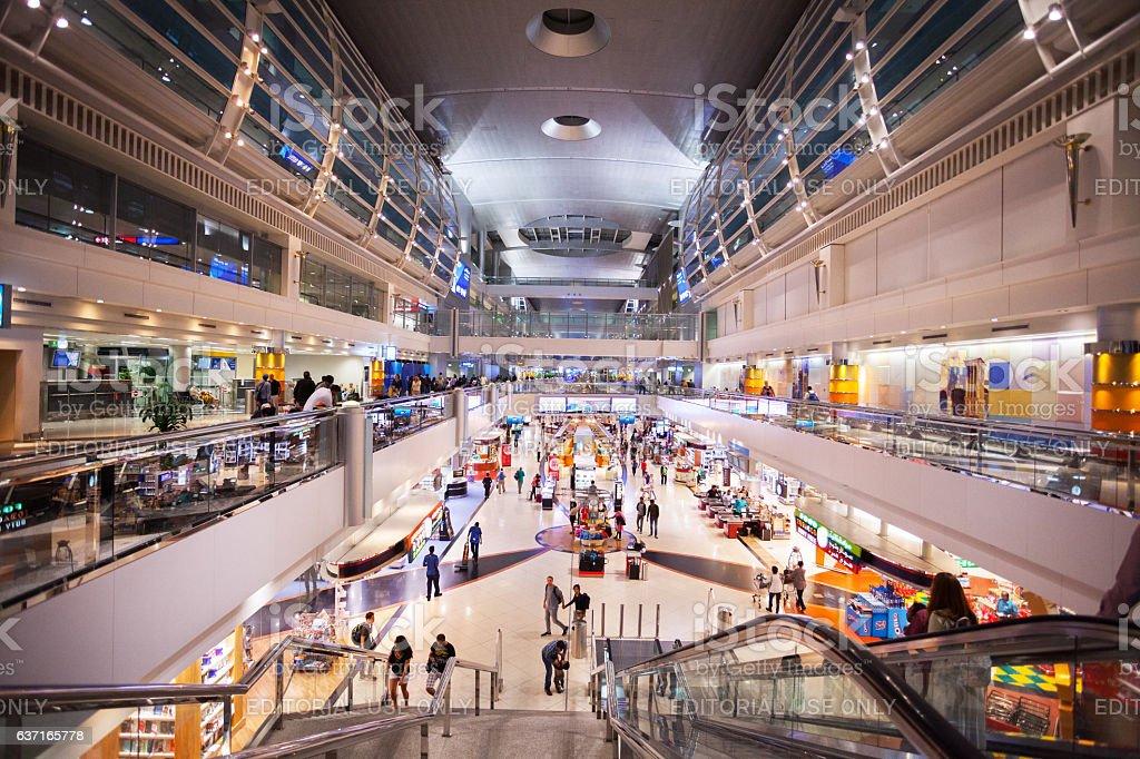 Modern duty free shopping area stock photo