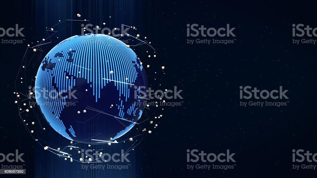 modern earth concept, Technological digital globe. stock photo