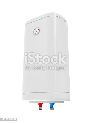 istock Modern Electric Water Heater isolated on white background 532665199