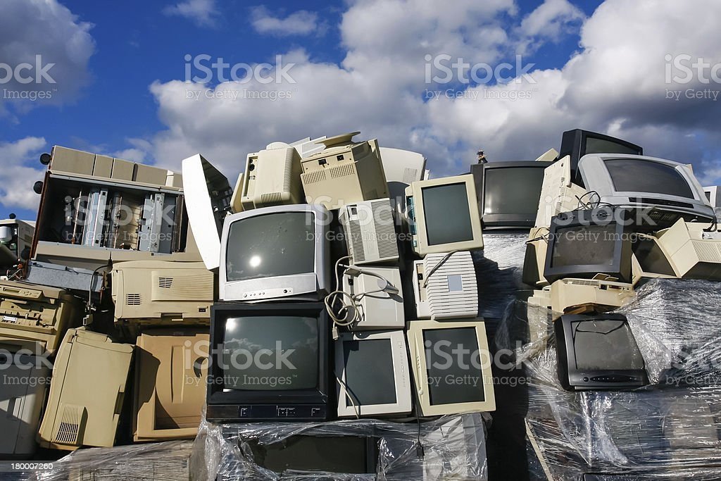 Modern electronic waste royalty-free stock photo
