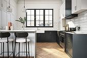 istock Modern elegant kitchen stock photo 1297586166