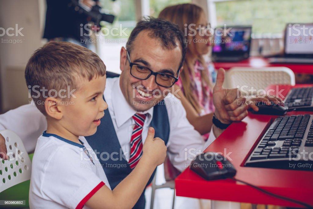 Modern elementary school - Royalty-free Boys Stock Photo