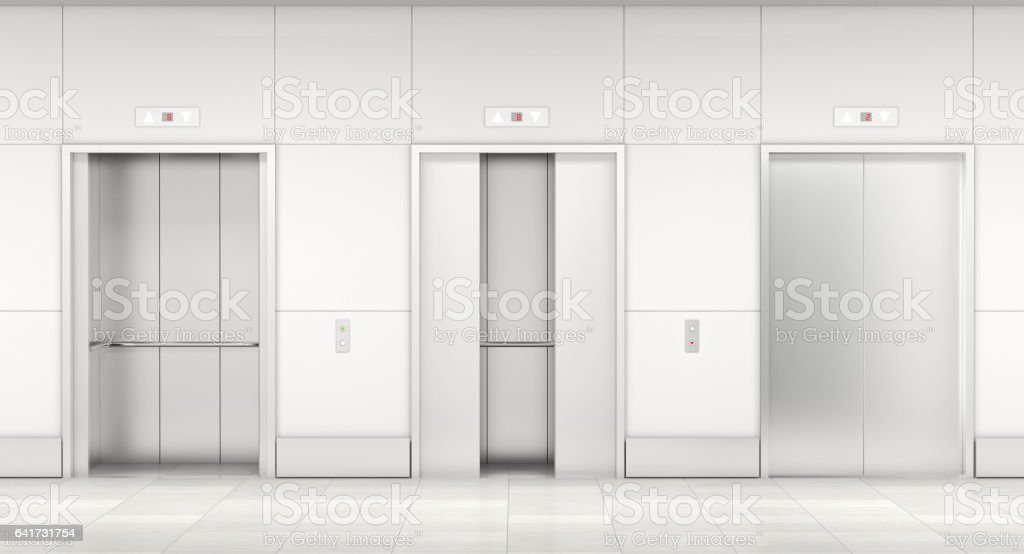 moderno ascensor 3d - foto de stock