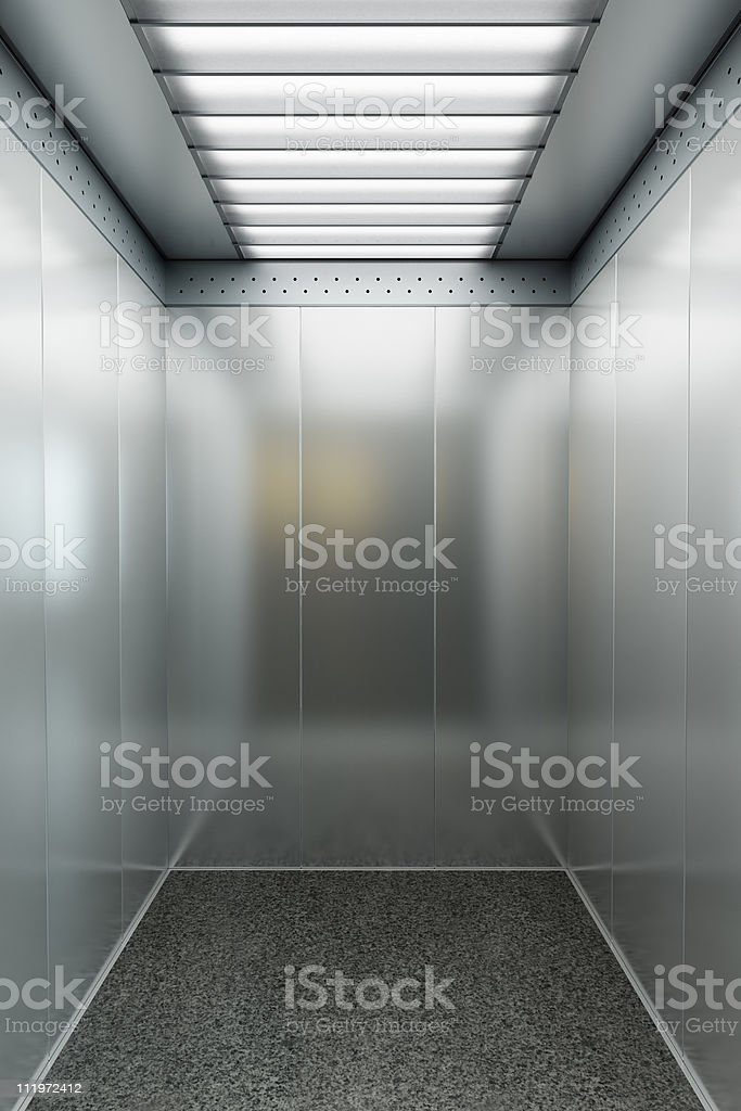 modern elevator 3d render royalty-free stock photo