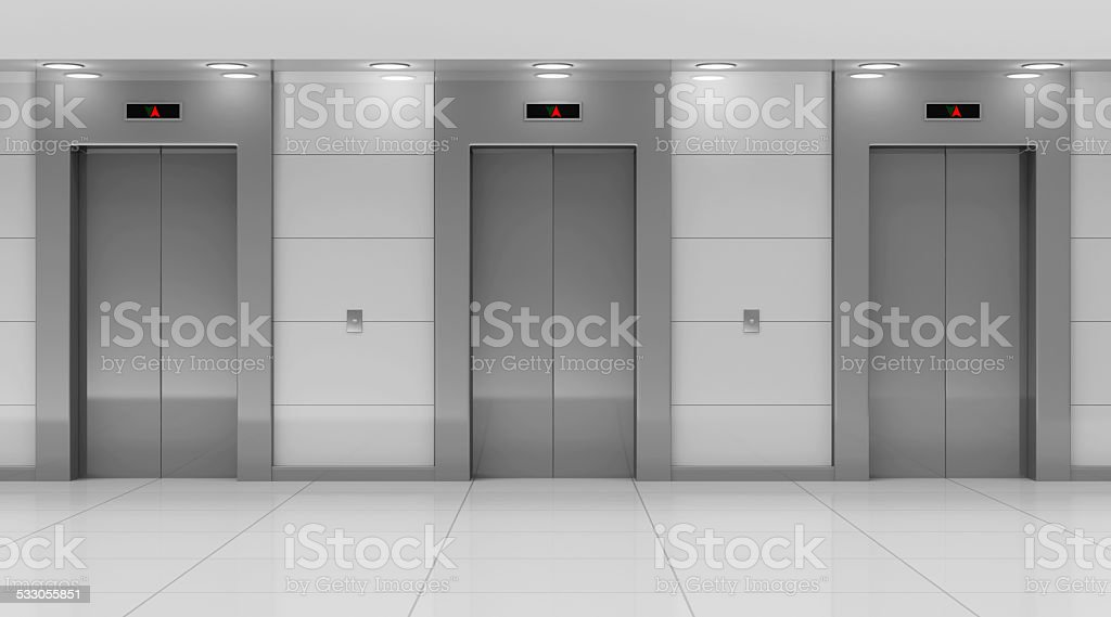 Modern Elevator Hall Interior stock photo