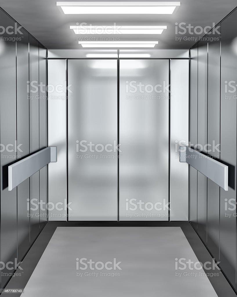 Moderne Aufzug mit öffnen Tür – Foto