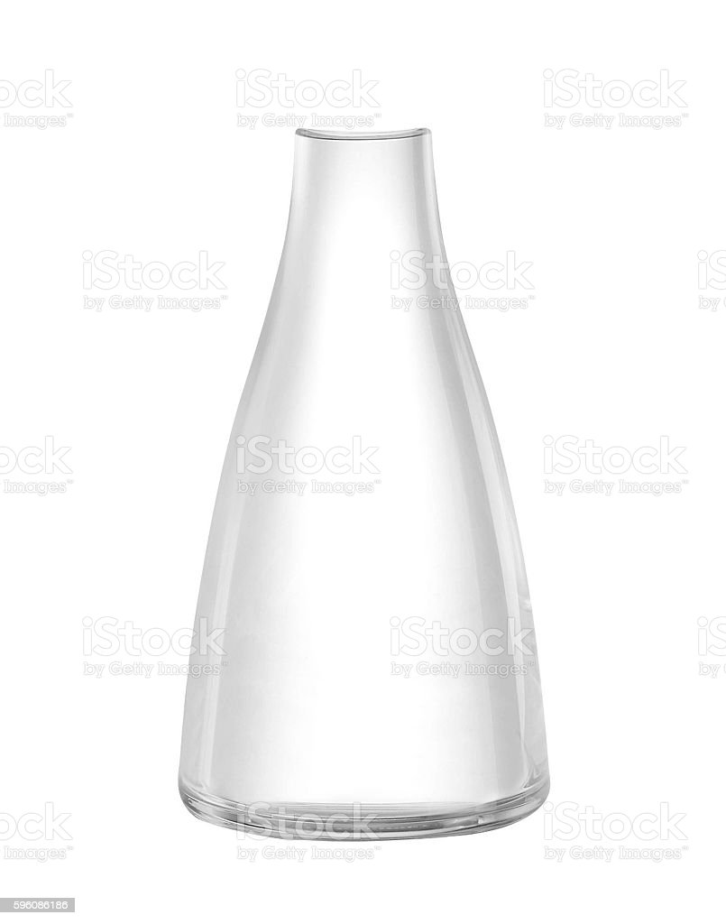 Modern empty drinking glass royalty-free stock photo