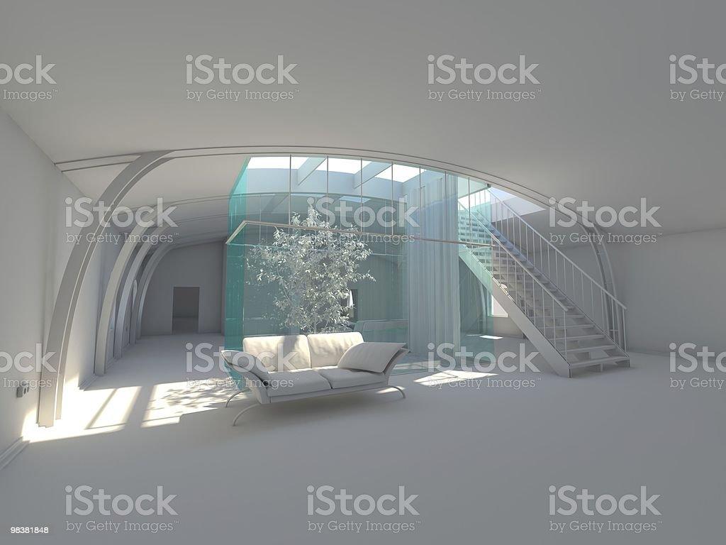 현대적이다 엠티 내륙발 식물 및 침대 겸용 소파 royalty-free 스톡 사진