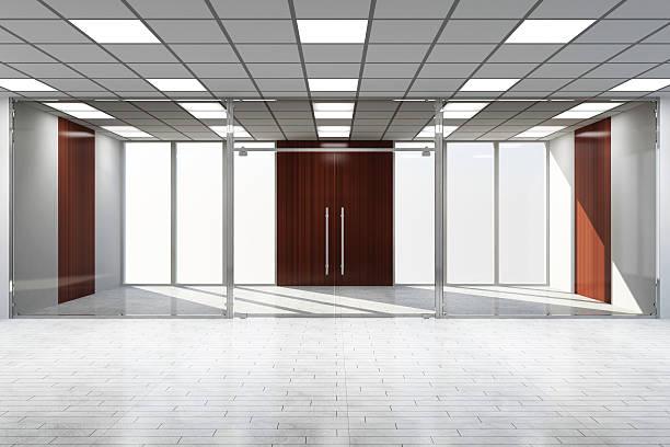현대적이다 엠티 사무실, 대형 창문 - 속이 빈 뉴스 사진 이미지