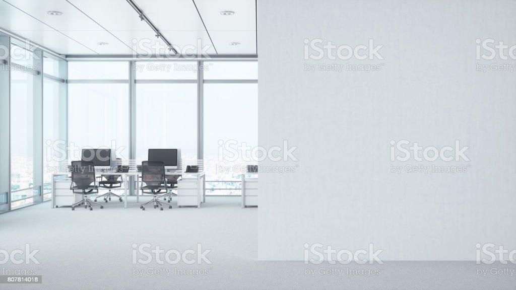 白い空白の壁とモダンな空室 - 3Dのロイヤリティフリーストックフォト