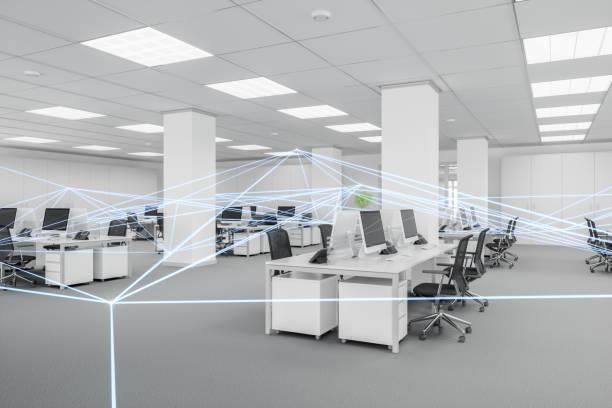 Modernes leeres Büro mit Anschlüssen – Foto