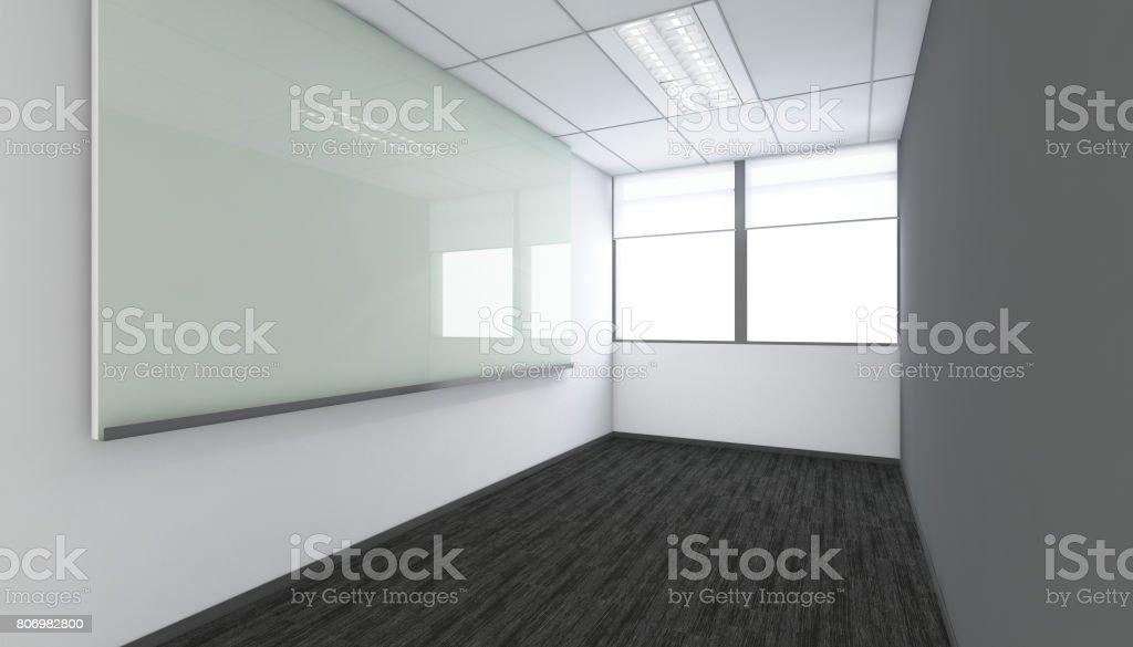 Moderne Leeren Raum 3d Renderinnenarchitektur Mockup Abbildung
