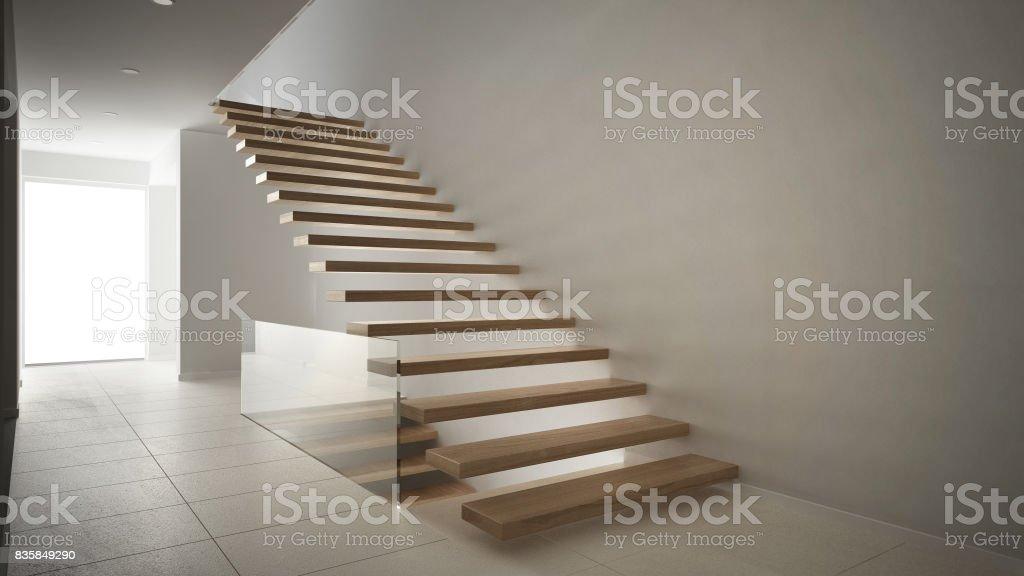 Photo libre de droit de Hall Daccueil Moderne Avec Escalier ...
