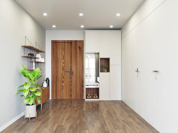 modern entrance interior design. stock photo
