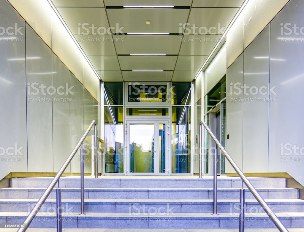 modern entrance at an office building
