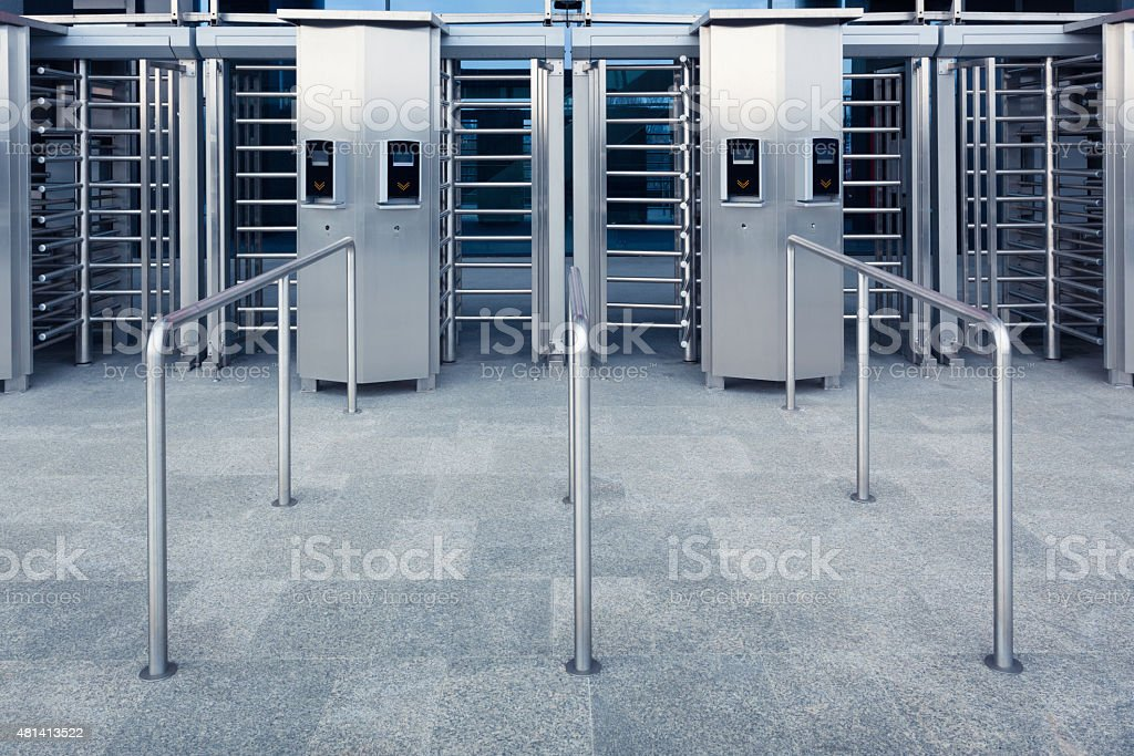 Modern entrance to a stadium stock photo