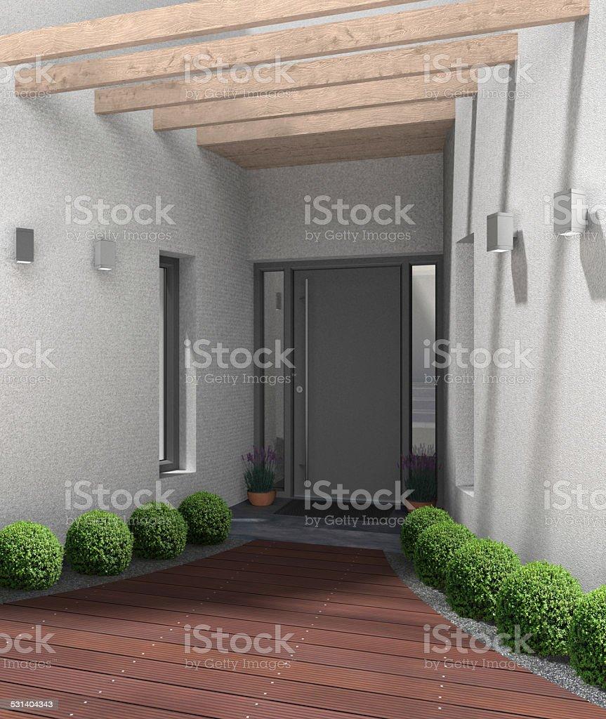 Moderne Eingangsbereich mit frontdoor – Foto