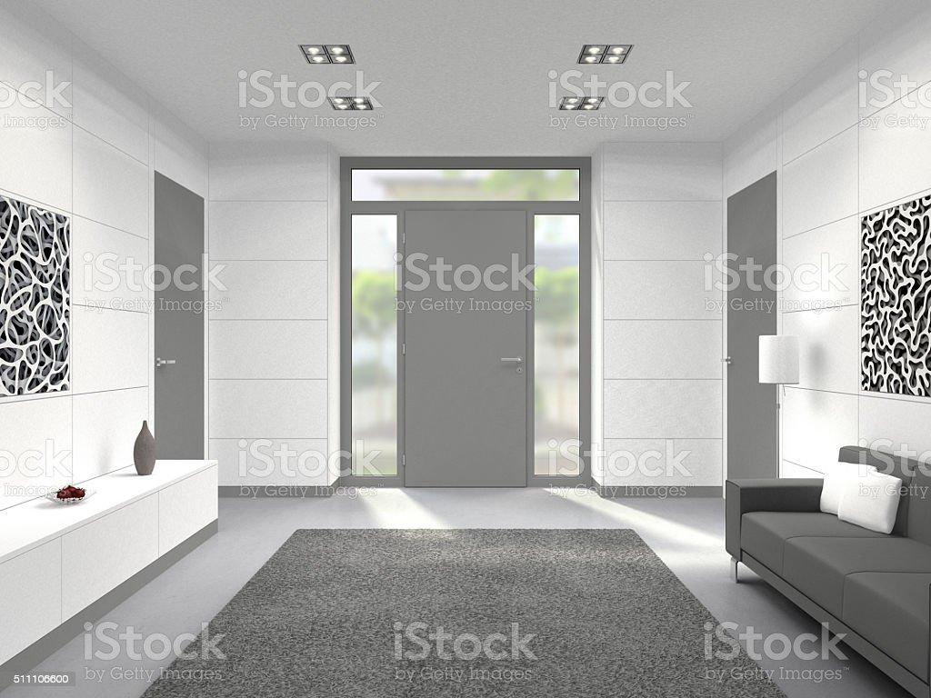 Moderne Innenraum Mit Tür Eingang - Stockfoto | iStock