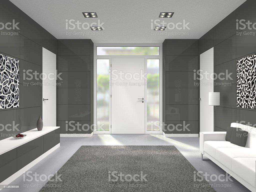 Moderne Innenraum mit Tür Eingang – Foto