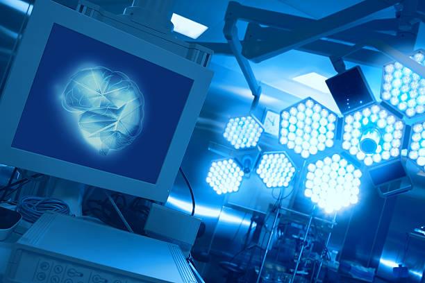 modern equipment in the operating room - op leuchte stock-fotos und bilder