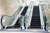 istock Modern escalator in a shopping mall 1269812197