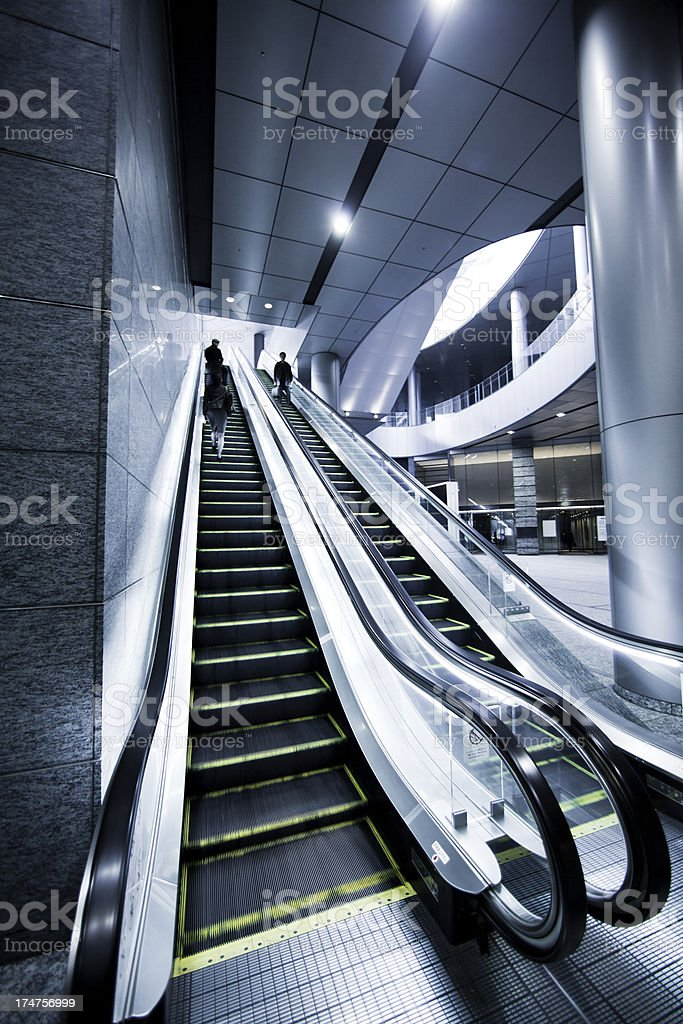 Modern Escalator royalty-free stock photo