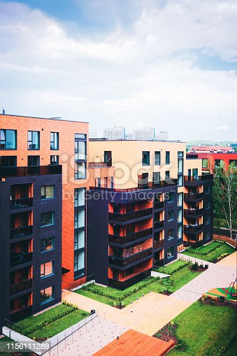 949087660 istock photo Modern European apartment residential buildings quarter 1156111289