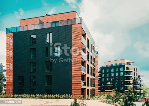 949087660 istock photo Modern European residential apartment building quarter 1163582756